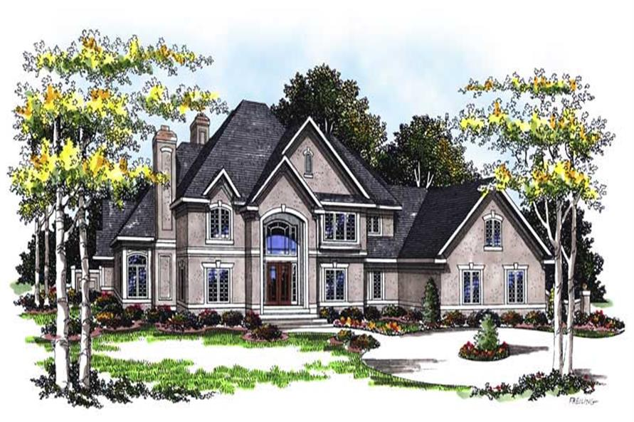FRONT ELEVATION of this 4-Bedroom,5185 Sq Ft Plan -5185