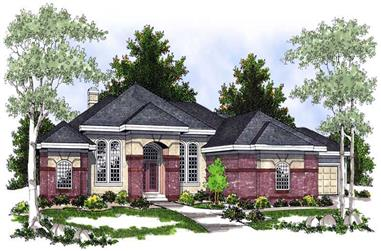 5-Bedroom, 5282 Sq Ft Contemporary House Plan - 101-1127 - Front Exterior