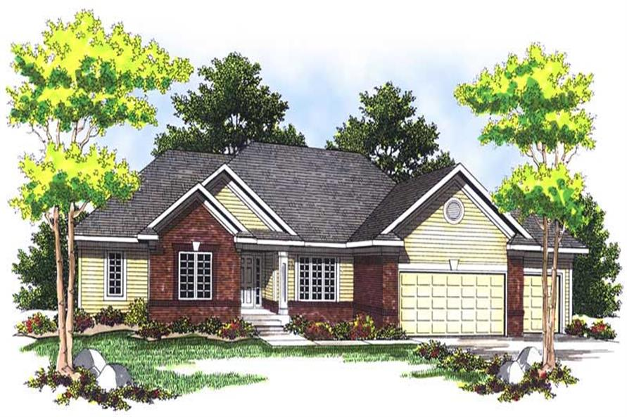 4-Bedroom, 2629 Sq Ft Ranch House Plan - 101-1129 - Front Exterior