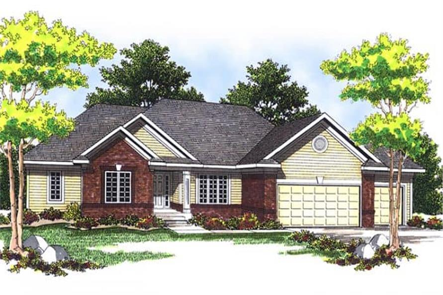 2-Bedroom, 1710 Sq Ft Ranch House Plan - 101-1130 - Front Exterior