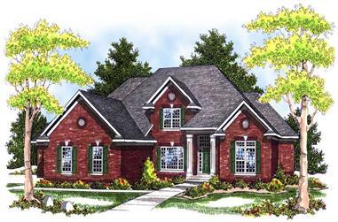 4-Bedroom, 3521 Sq Ft European House Plan - 101-1132 - Front Exterior