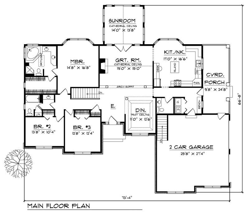 Ranch Home With 3 Bdrms 2293 Sq Ft House Plan 101 1133