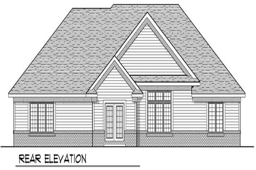 Home Plan Rear Elevation of this 3-Bedroom,2411 Sq Ft Plan -101-1134