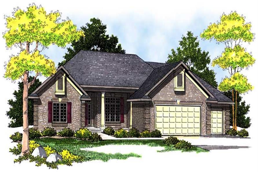 3-Bedroom, 2411 Sq Ft Ranch House Plan - 101-1134 - Front Exterior