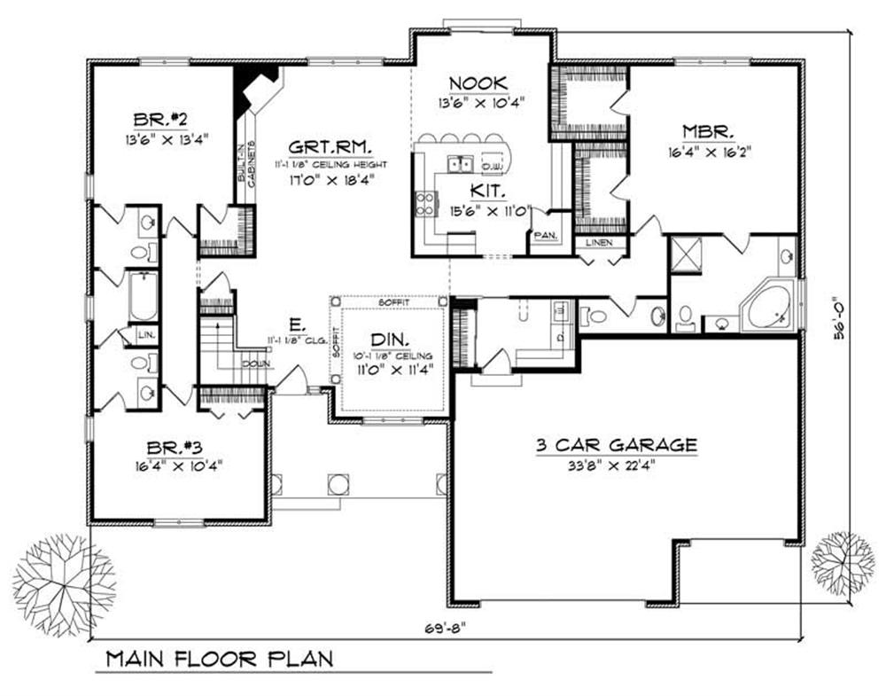 Large Images For House Plan 101 1134