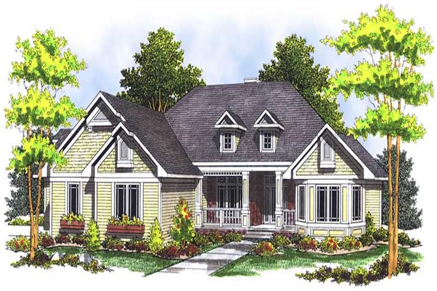 3-Bedroom, 3715 Sq Ft Country House Plan - 101-1135 - Front Exterior