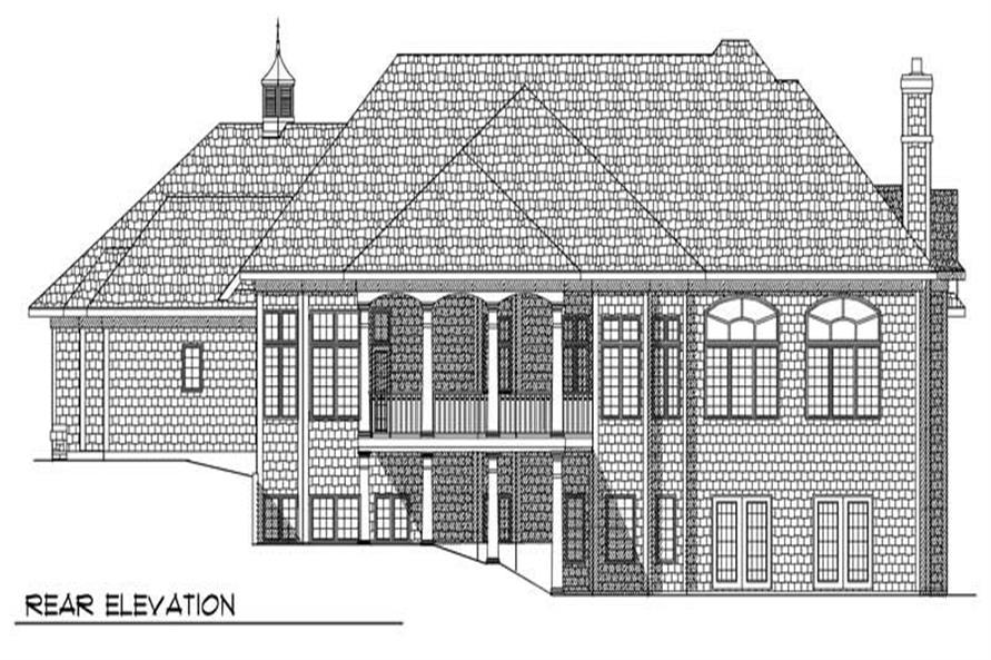 Home Plan Rear Elevation of this 2-Bedroom,3012 Sq Ft Plan -101-1136