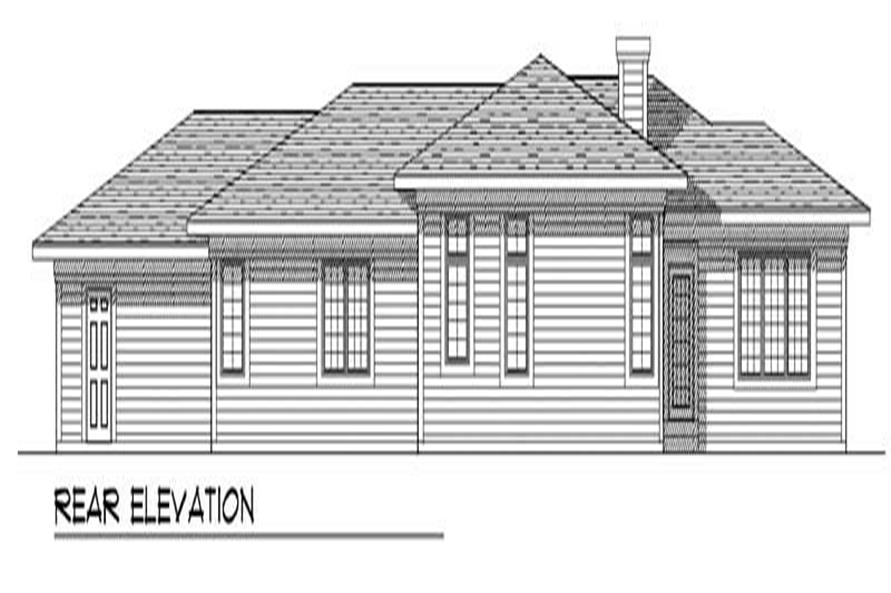 Home Plan Rear Elevation of this 3-Bedroom,1947 Sq Ft Plan -101-1147