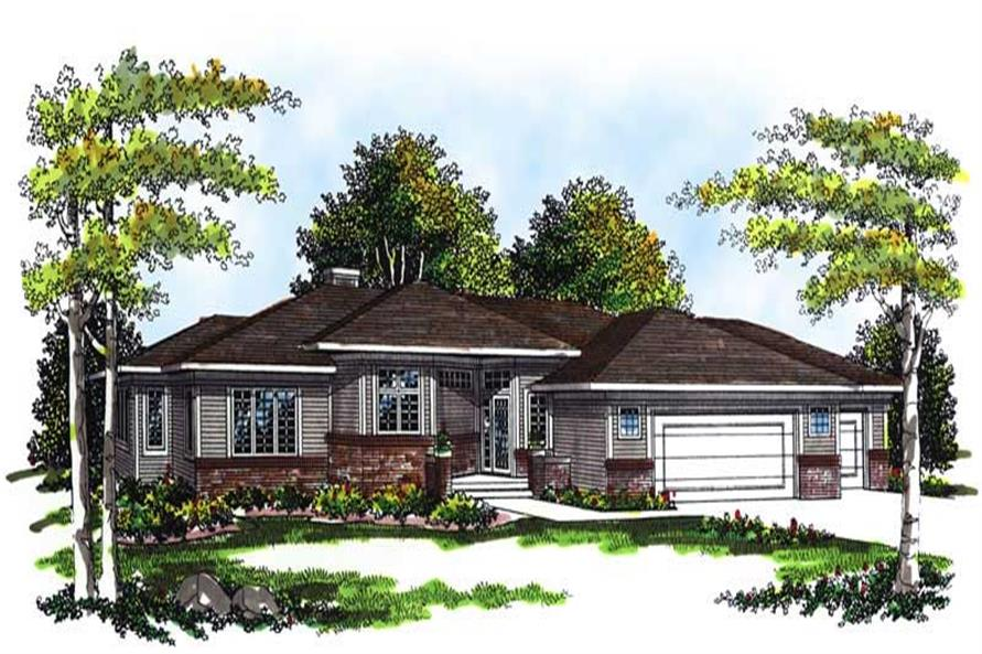 3-Bedroom, 1947 Sq Ft Craftsman Home Plan - 101-1147 - Main Exterior