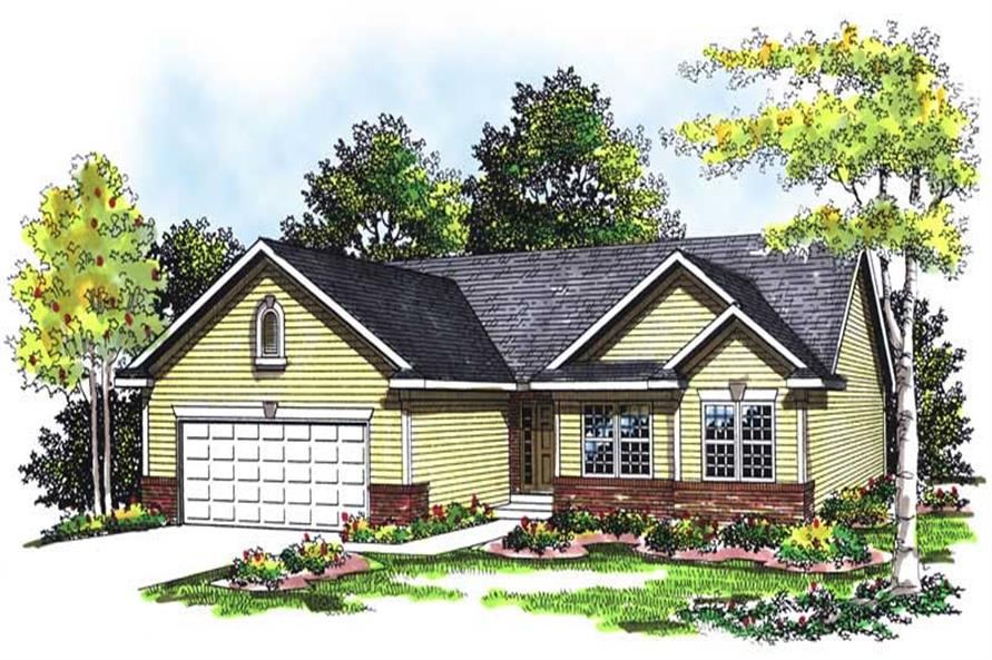 3-Bedroom, 1370 Sq Ft Ranch Home Plan - 101-1149 - Main Exterior