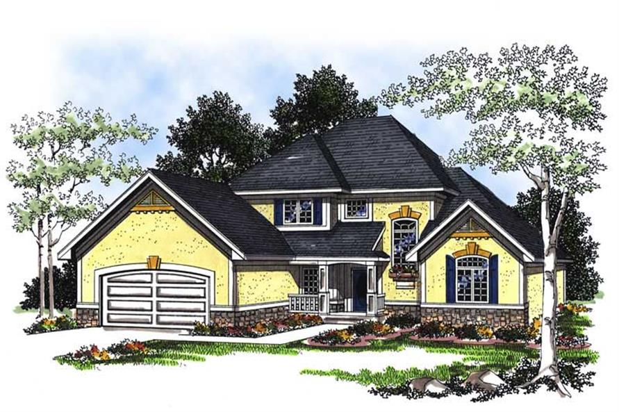 Home Plan Rendering of this 4-Bedroom,2712 Sq Ft Plan -101-1152