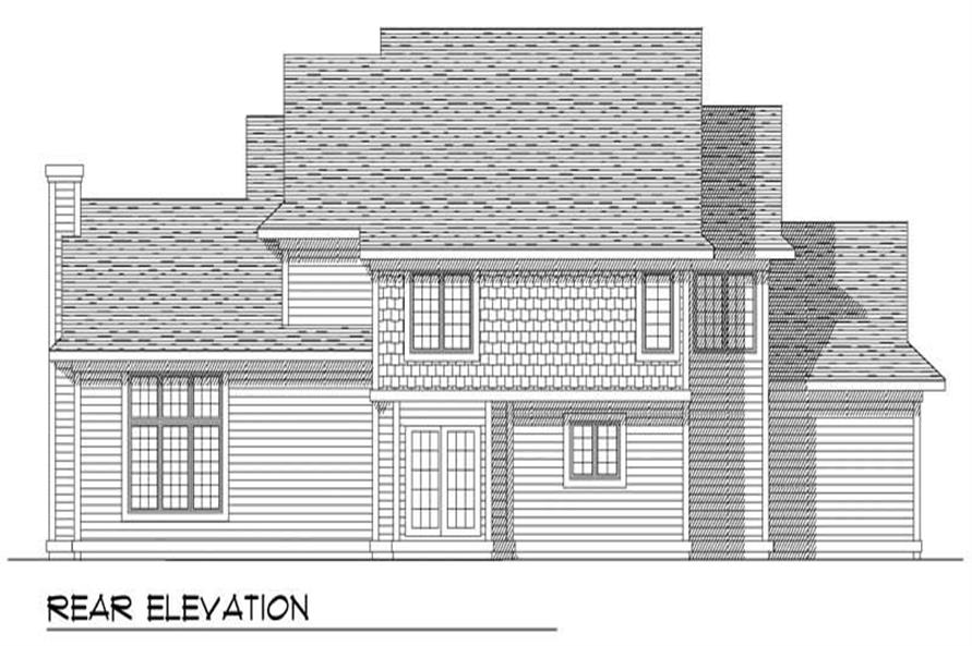 Home Plan Rear Elevation of this 4-Bedroom,2345 Sq Ft Plan -101-1153