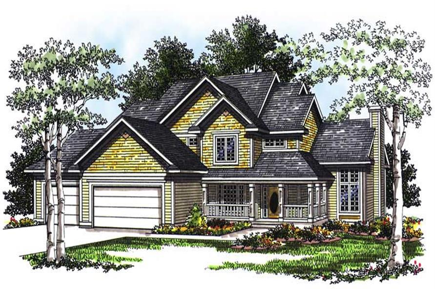 4-Bedroom, 2345 Sq Ft Country House Plan - 101-1153 - Front Exterior