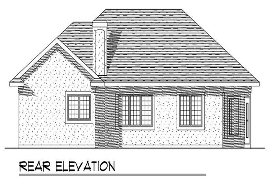 Home Plan Rear Elevation of this 3-Bedroom,1796 Sq Ft Plan -101-1155