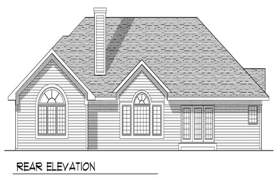 Home Plan Rear Elevation of this 3-Bedroom,2161 Sq Ft Plan -101-1156