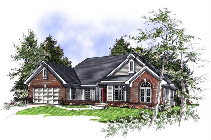 3-Bedroom, 2161 Sq Ft Ranch Home Plan - 101-1156 - Main Exterior