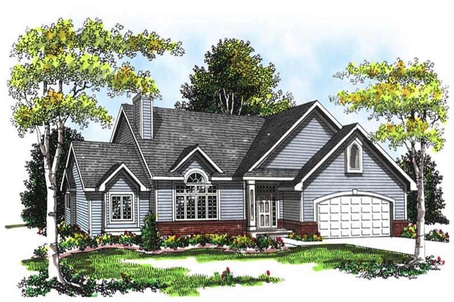 Home Plan Rendering of this 3-Bedroom,2147 Sq Ft Plan -101-1157