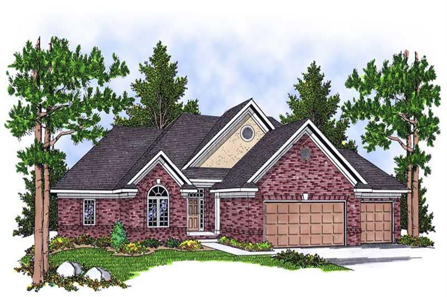 4-Bedroom, 3025 Sq Ft Ranch House Plan - 101-1159 - Front Exterior