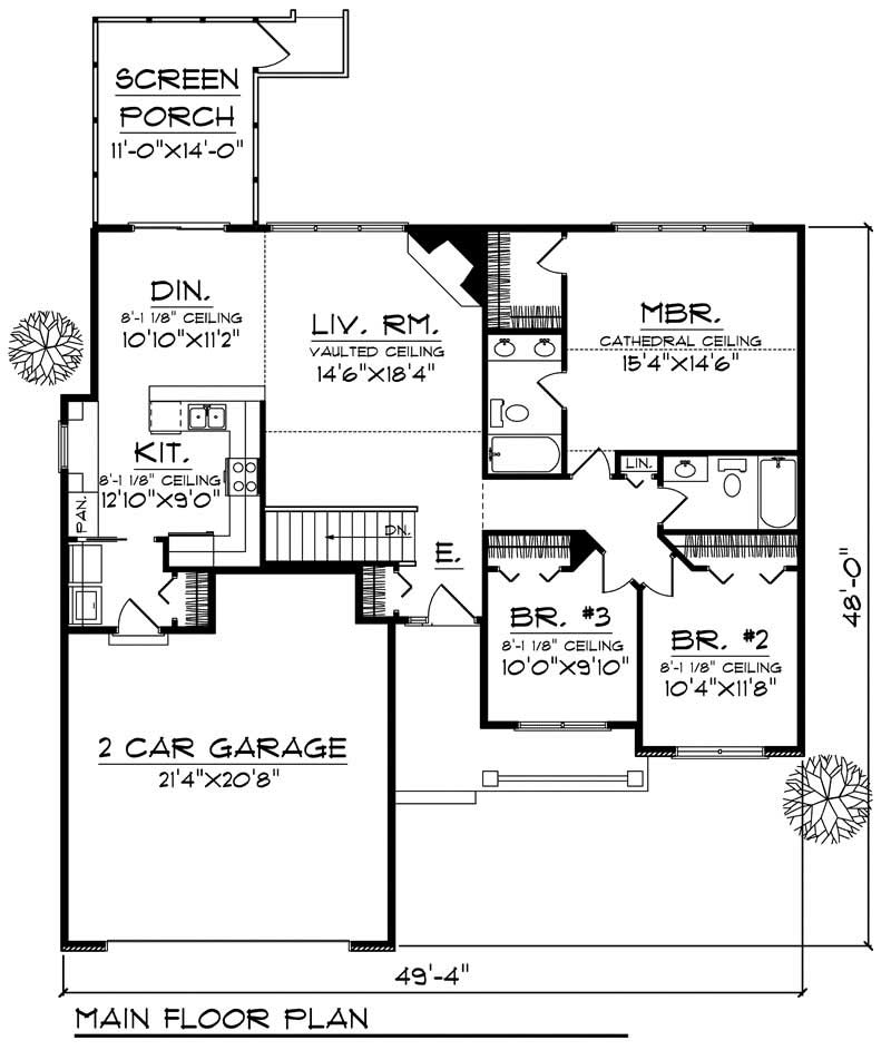 House Design 101: Ranch Home With 4 Bdrms, 2129 Sq Ft