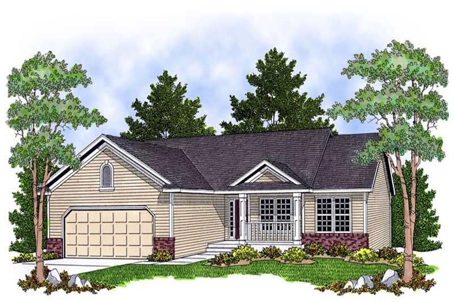 3-Bedroom, 1419 Sq Ft Ranch House Plan - 101-1164 - Front Exterior