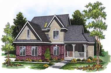 4-Bedroom, 2553 Sq Ft Country Home Plan - 101-1166 - Main Exterior