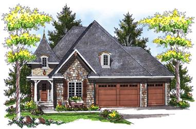 2-Bedroom, 1773 Sq Ft Small House Plans - 101-1167 - Main Exterior