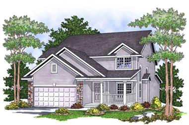3-Bedroom, 2310 Sq Ft Ranch House Plan - 101-1175 - Front Exterior