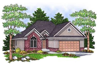 2-Bedroom, 1382 Sq Ft Ranch Home Plan - 101-1176 - Main Exterior