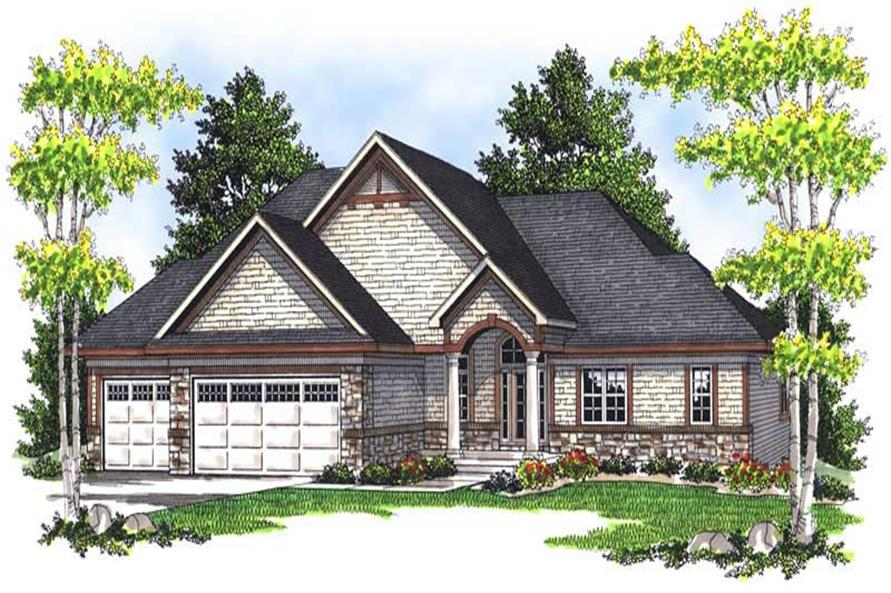 2-Bedroom, 1961 Sq Ft Ranch Home Plan - 101-1178 - Main Exterior