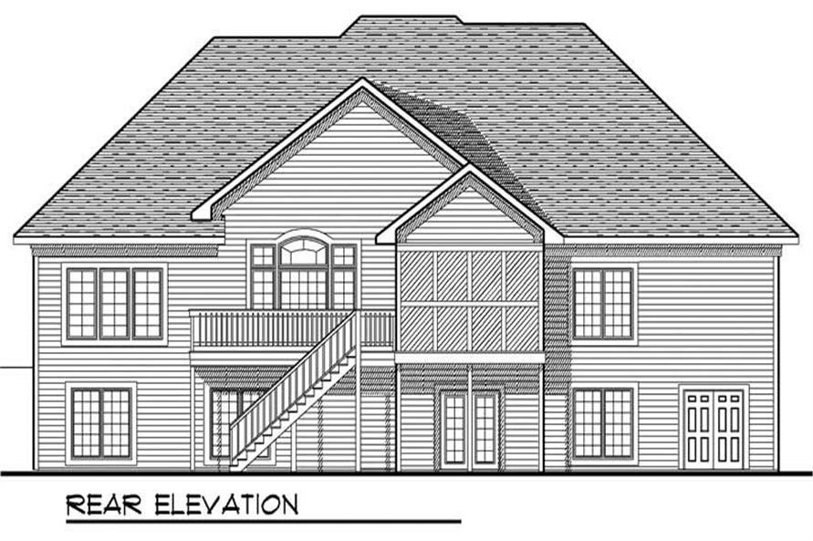 Home Plan Rear Elevation of this 3-Bedroom,2775 Sq Ft Plan -101-1180
