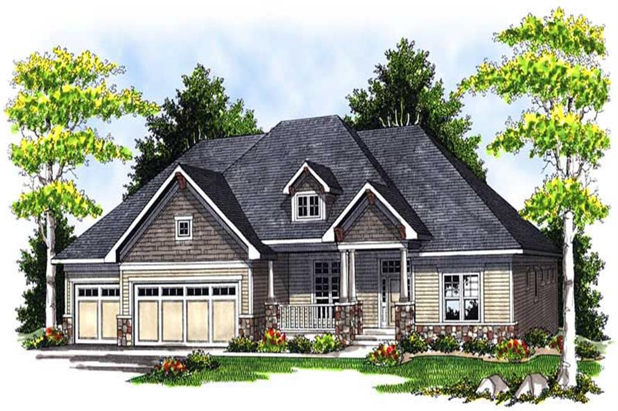 3-Bedroom, 2775 Sq Ft Ranch Home Plan - 101-1180 - Main Exterior