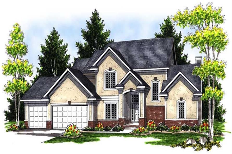 4-Bedroom, 2469 Sq Ft European Home Plan - 101-1181 - Main Exterior