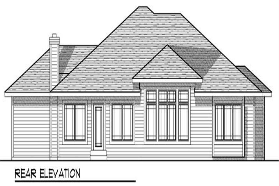 Home Plan Rear Elevation of this 3-Bedroom,1938 Sq Ft Plan -101-1189
