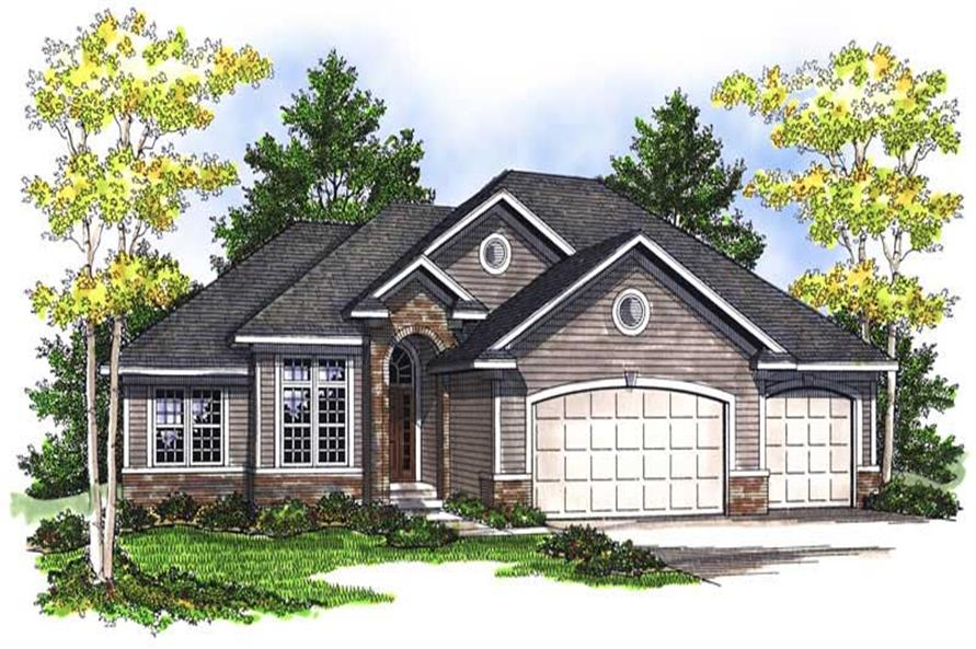 5-Bedroom, 2690 Sq Ft Ranch House Plan - 101-1190 - Front Exterior