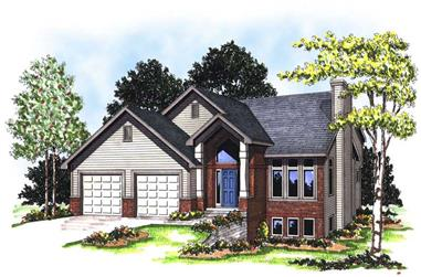3-Bedroom, 1929 Sq Ft Country Home Plan - 101-1194 - Main Exterior