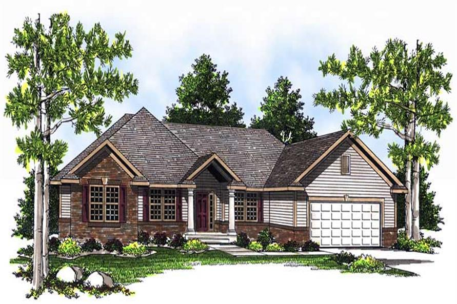 4-Bedroom, 1923 Sq Ft Ranch House Plan - 101-1197 - Front Exterior