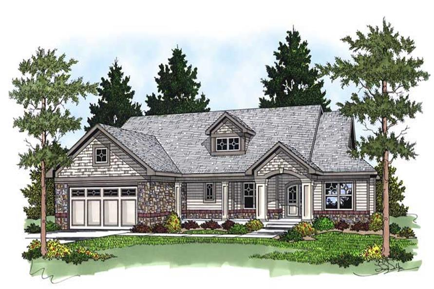 3-Bedroom, 1920 Sq Ft Country Home Plan - 101-1200 - Main Exterior