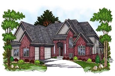 4-Bedroom, 3800 Sq Ft Country Home Plan - 101-1201 - Main Exterior
