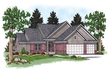 5-Bedroom, 3466 Sq Ft Ranch Home Plan - 101-1202 - Main Exterior