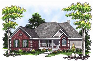 3-Bedroom, 3015 Sq Ft Ranch House Plan - 101-1206 - Front Exterior