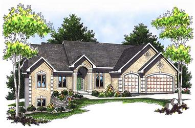 2-Bedroom, 4555 Sq Ft Ranch Home Plan - 101-1211 - Main Exterior