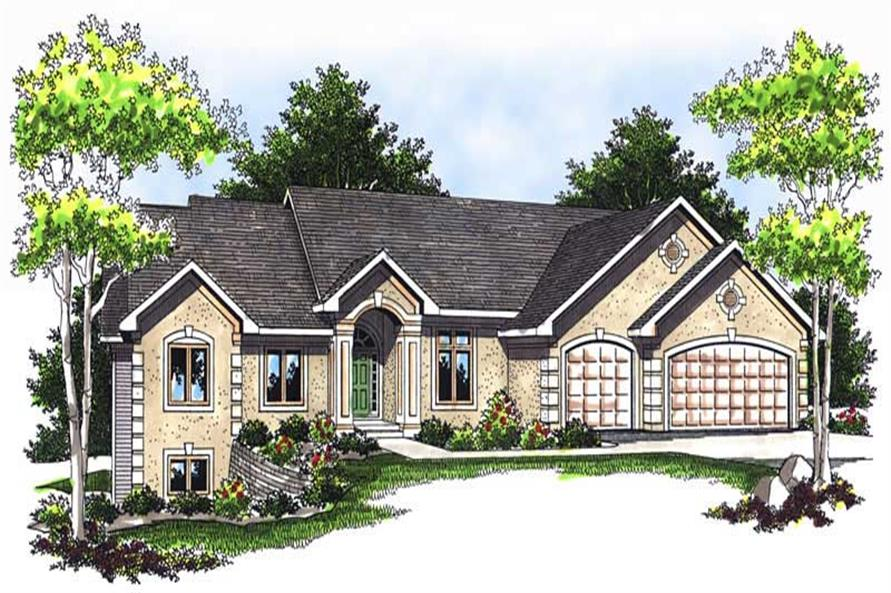 2-Bedroom, 4555 Sq Ft Ranch Home Plan - 101-1211 - Main Exterior