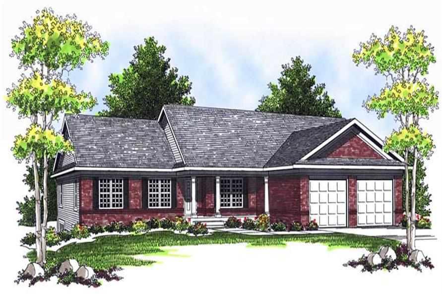 4-Bedroom, 2136 Sq Ft Ranch Home Plan - 101-1214 - Main Exterior