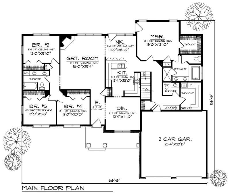 House Design 101: Ranch Home With 4 Bdrms, 2136 Sq Ft