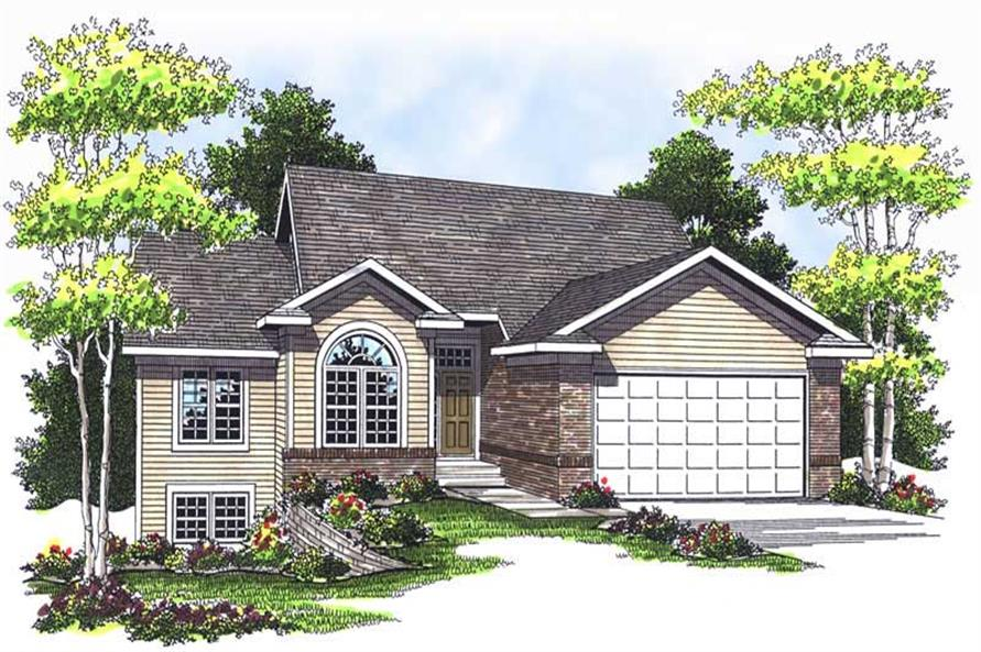 2-Bedroom, 1356 Sq Ft Ranch House Plan - 101-1216 - Front Exterior