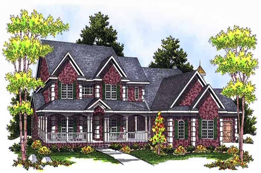 5-Bedroom, 4025 Sq Ft Country Home Plan - 101-1218 - Main Exterior