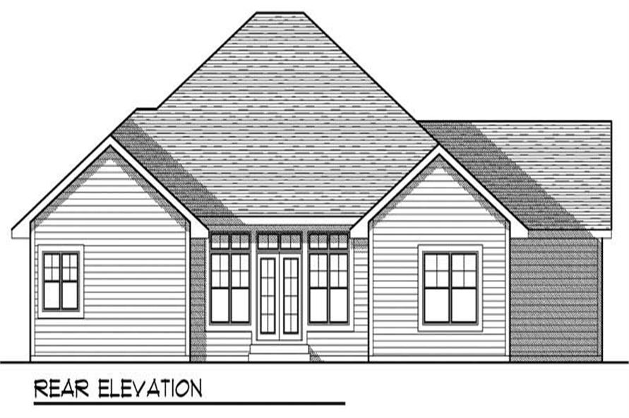 Home Plan Rear Elevation of this 3-Bedroom,1930 Sq Ft Plan -101-1219