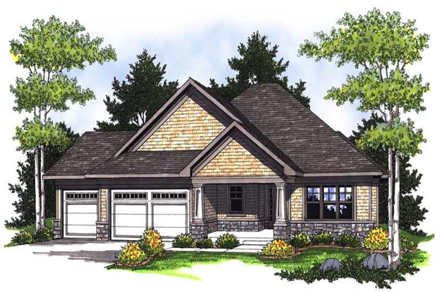 3-Bedroom, 1930 Sq Ft Country House Plan - 101-1219 - Front Exterior