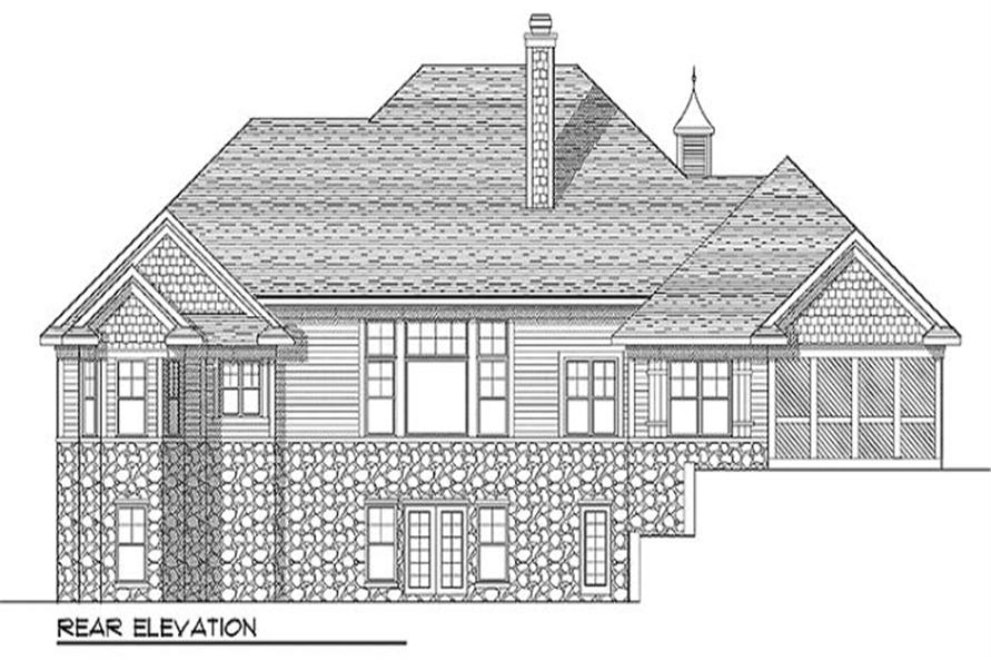Home Plan Rear Elevation of this 3-Bedroom,2239 Sq Ft Plan -101-1222