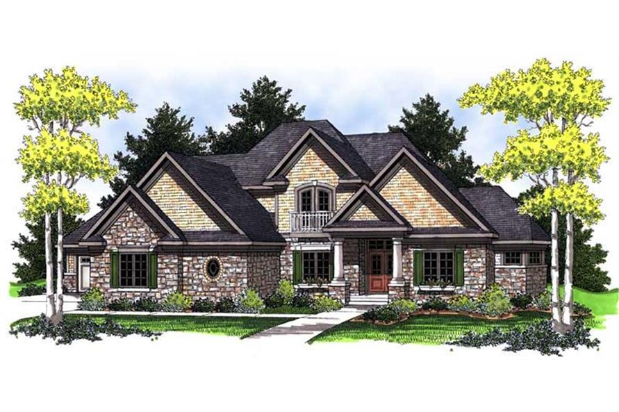 Home Plan Rendering of this 4-Bedroom,2874 Sq Ft Plan -2874